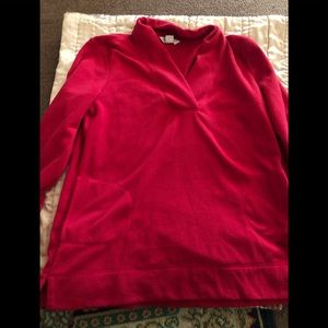 Jackets & Blazers - Red fleece pullover